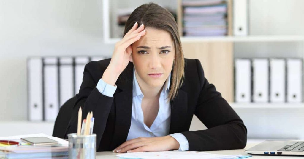 woman looking distressed: to emphasize we can help with accounting vocabulary
