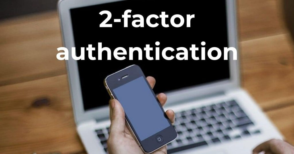 2-factor authentication - image of phone