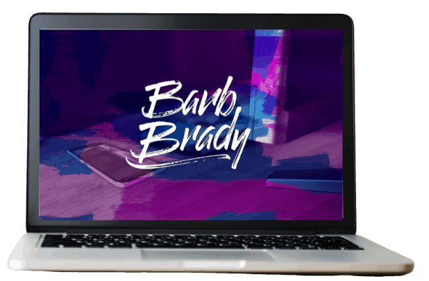 Barb Brady laptop for FAQ page